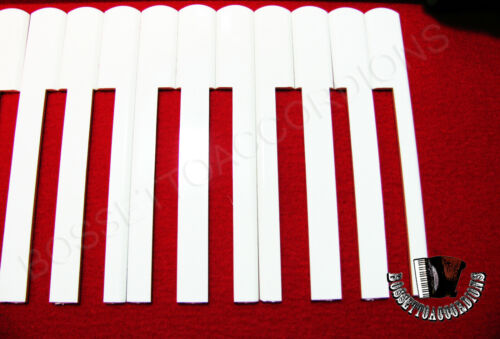 mm Accordion Key Tops 19.8 White Keytops Set of 24 Made in Italy