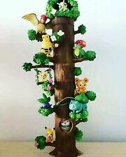 8PCS/Set  Miniature Forest Tree Collection Pikachu Bulbasaur Figures Toy No Box