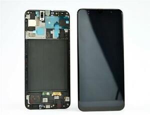 DISPLAY LCD ORIGINALE Samsung A505 Galaxy A50 NERO vetrino touch vetro schermo