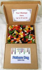 Sweet Retro Postal Caja Padres Día Regalo Jelly Beans 400gm Diseño Corbata