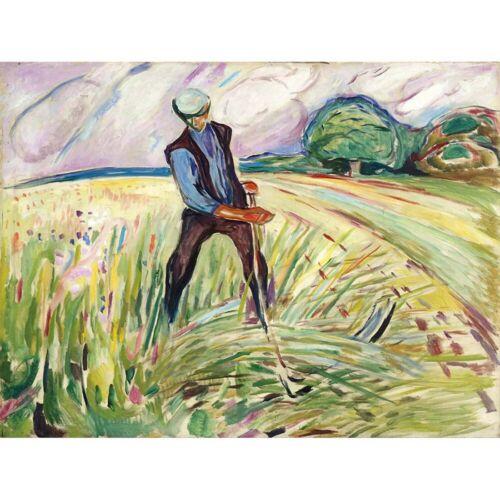Painting Edvard Munch The Haymaker 12X16 Inch Framed Art Print