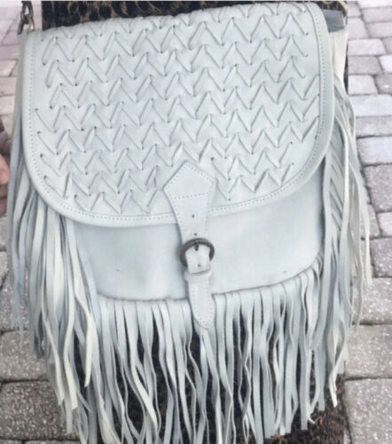 Raj Suede Leather Fringe Shoulder Bag