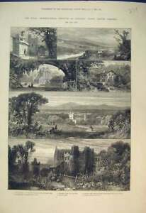 Old-Antique-Print-1882-Carlisle-Lanercost-Mill-Priory-Howard-Tower-Castle-19th