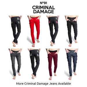 Pantalon-Vaquero-Para-Hombre-Criminal-Damage-Skinny-Fit-Skinnies-Varios-Colores