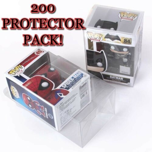 Pack Of the 200 POP Vinyl Protector Cases NEW Funko Standard Size Acid Free