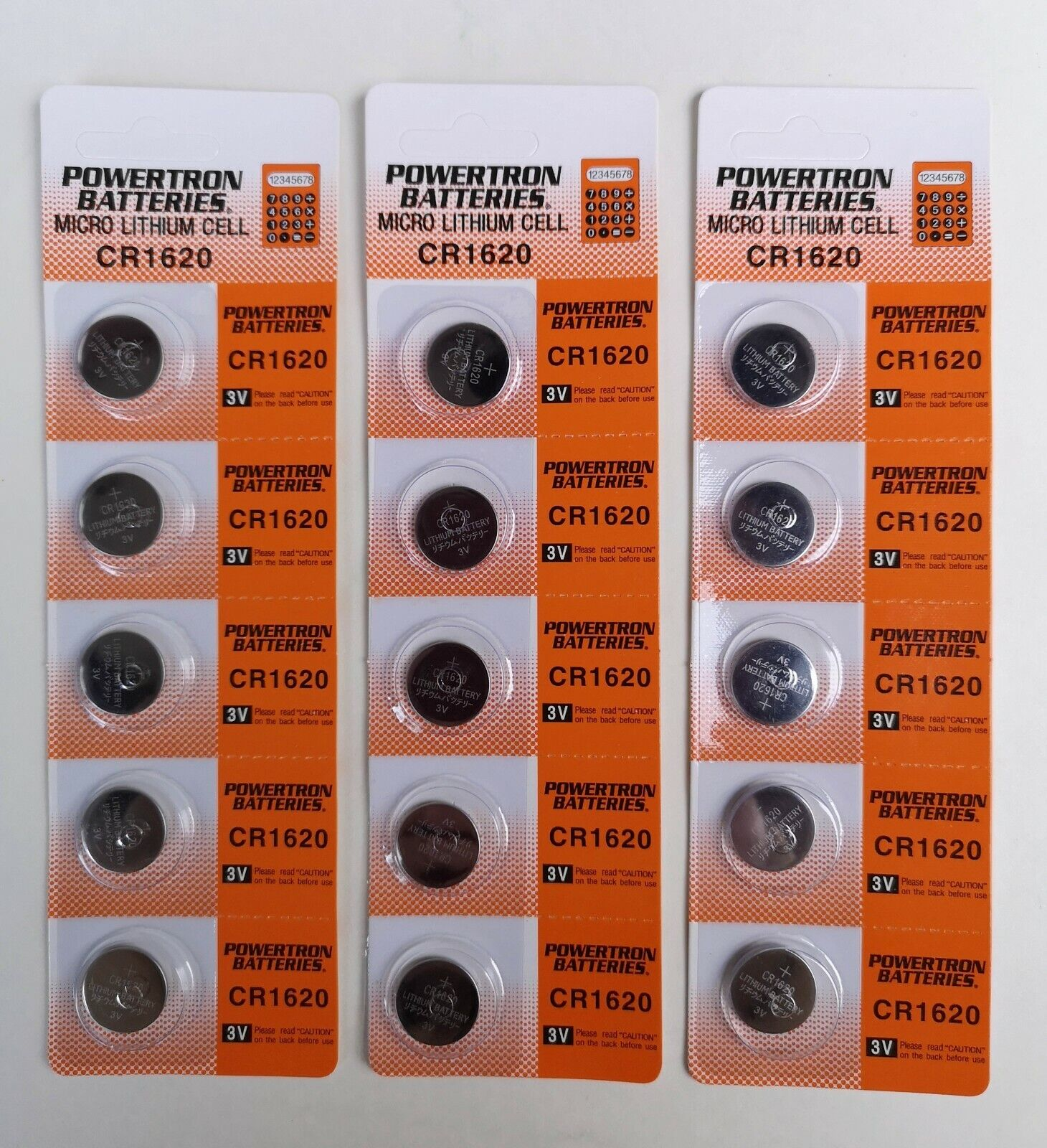 5 / 10 / 20 / 30 / 40 pcs CR1620 BR1620 3V lithium battery coin cell button lot