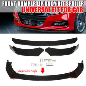 2*Universal Front Bumper Lip Body Kit Spoiler fit Honda Civic BMW Jeep Mazda GMC
