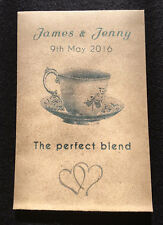 10 Personalised Wedding Envelopes with Tea bag Perfect Blend table favour guest