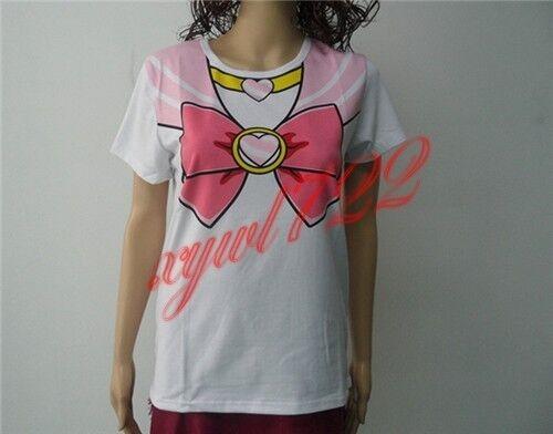 New Sailor Moon Chibiusa Chibi Harajuku T-shirt Tops 20th Anniversary Cosplay