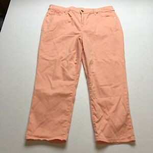 Chicos-The-Platinum-Crop-Orange-Colored-Pants-Size-2-5-A1754