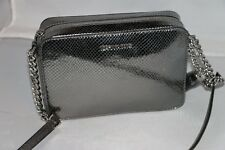 a7ef5172d2de Michael Kors Ginny Medium Embossed Leather Camera Bag Light Pewter ...