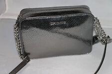 d343632bd2 Michael Kors Ginny Medium Embossed Leather Camera Bag Light Pewter ...