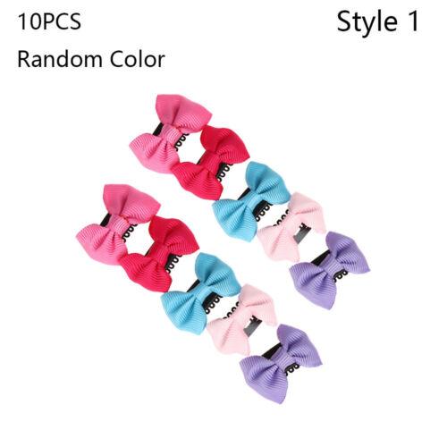 Cute Girl/'s Fashion Flower Hairpin Infant Mini Bow Baby Hair Clips Color Random