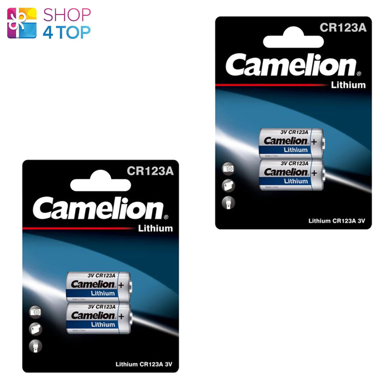 4 Camelion CR123A Lithium Batteries 3V CR17345 DL123A LIR123A 2BL Exp 2027 New
