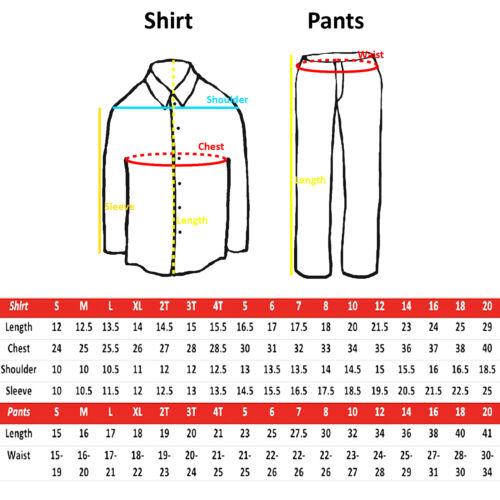 2pc Boy Toddler Teen Kid Formal Party Tuxedo Suit White Shirt /& Pants set Sm-20