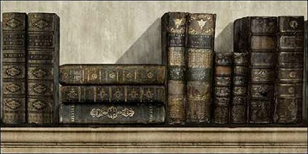 Russel Brennan  The Collection II Keilrahmen-Bild Leinwand Bücher antik Vintage