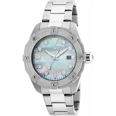 Invicta Women's Angel Quartz 3 Hand White Dial Watch 20318