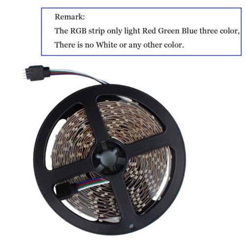 5M//10M 5050 RGB LED Strip with 44keys IR Remote Controller 12V 6A Power Adapter