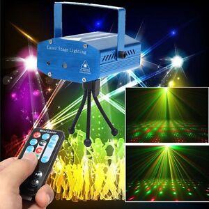 Mini Stage Projecteur Lumiere Eclairage Light DJ Effect Club Disco Voice Control