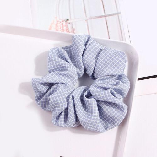 Women Fashion Casual Korean 1PC Plaid Large Intestine Hair Band Cloth Hair Ring