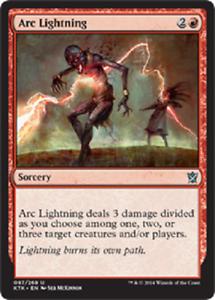 Arc Lightning x4 NM Magic the Gathering MTG Khans of Tarkir # 97
