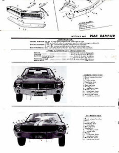 1967 Rambler Rebel Ambassador Marlin Motor S Body Frame Crash