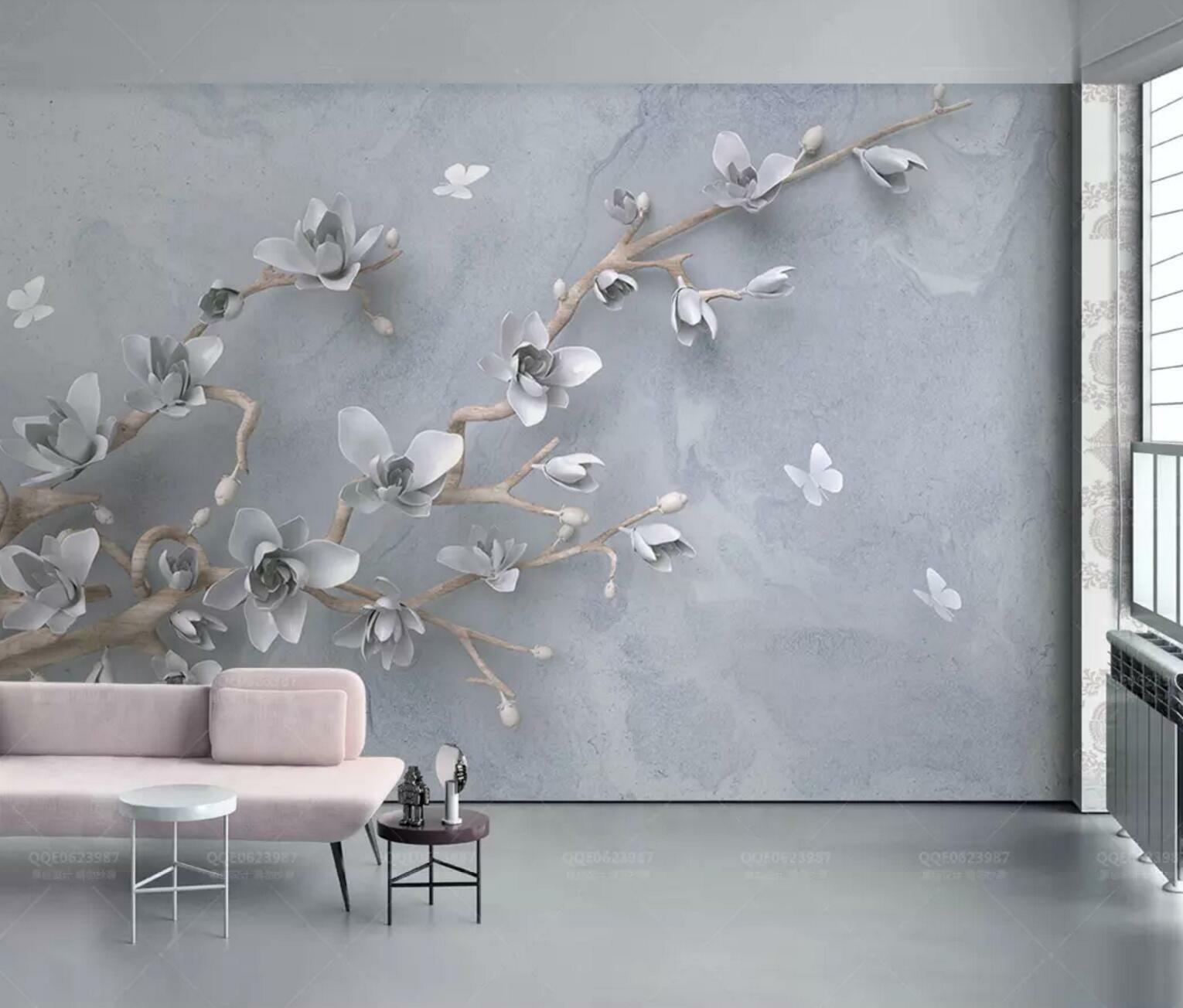 3D Magnolia 7734 Wall Paper Exclusive MXY Wallpaper Mural Decal Indoor Wall AJ