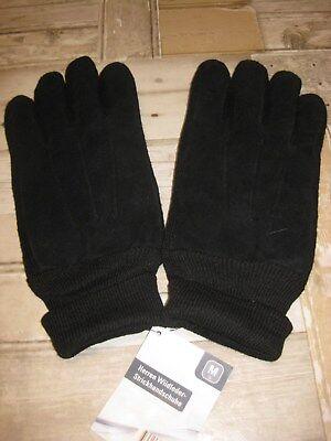 ** Neu ** Herren - Wildleder - Strick - Finger - Handschuhe Größe M