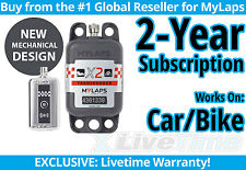 MyLaps X2 Car/Bike Rechargeable Transponder w/ 2-year Subscription -AMB Flex 260