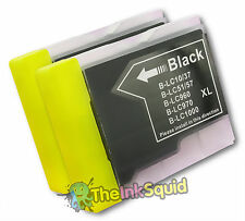 2 Black LC970 Bk Ink Cartridges for Brother DCP-135C