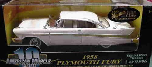 1958 1958 1958 Plymouth Fury Beige 1 18 Ertl American Muscle 32612 0d4ae2