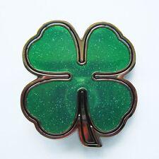 NEW CELTIC IRISH CLOVER PATRICK SHAMROCKS BELT BUCKLE