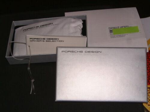 PORSCHE DESIGN DRIVER/'S SELECTION 1-4 GENERATION CRESTED LEATHER IPHONE CASE NIB