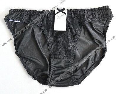 """Lace Bikini Lingerie Sheer Nylon Panties for Hip 35-38"""" Sz -6 New"""
