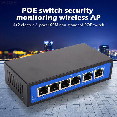 9078 4 PoE Injector Router Universal POE Switch Power Over Ethernet 4+2 Ports