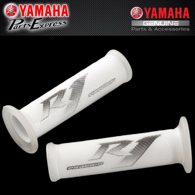 FITS 1998-2019 YZF-R1 R1 Grips from Progrip in White Brand New Yamaha YZF
