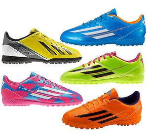 58c42d400b9d Adidas F5 TRX Astro Turf Boys Kids Football Soccer Boots Trainers ...