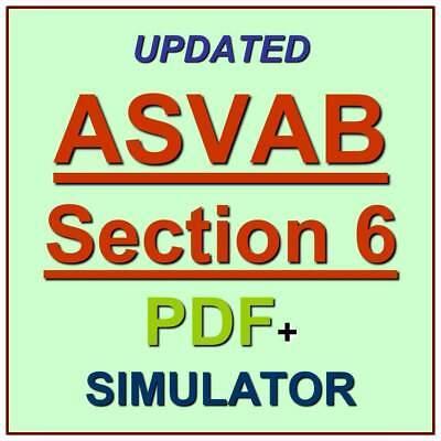 ASVAB 6 Section Six Mathematics Knowledge Exam Test QA PDF+Simulator