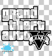Grand Theft Auto V Juego Xbox Ps4 Ps3 van parachoques Pared Vw Arte Sticker Decal