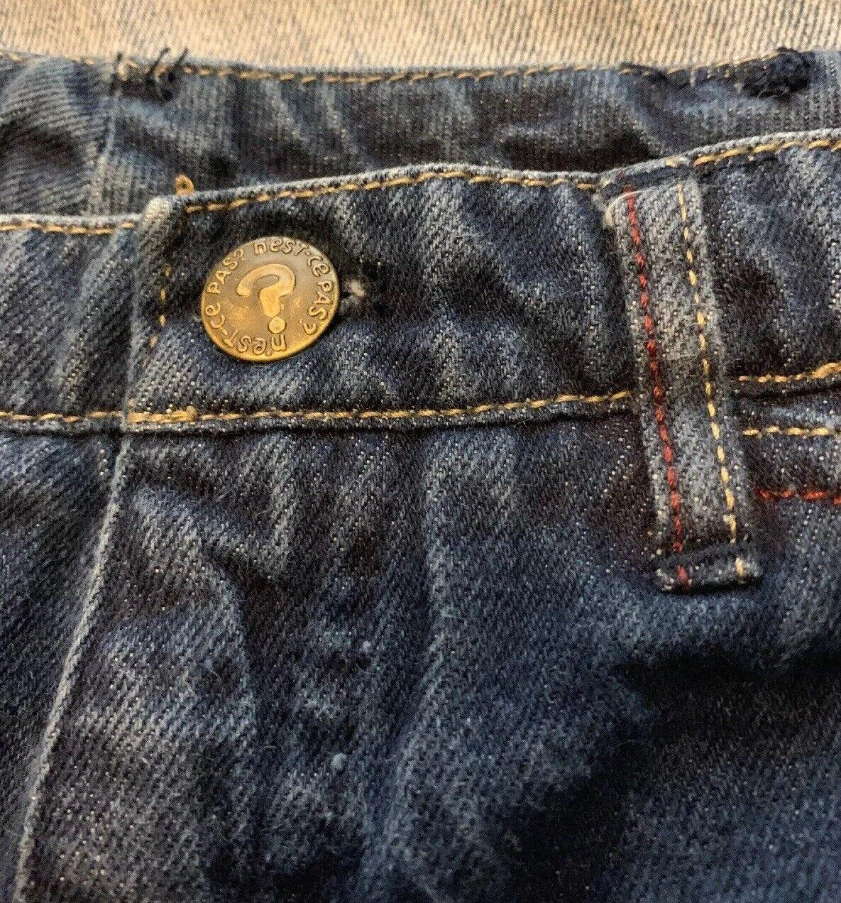 """Vintage N Est Ce Pas indigo denim jeans 24"""" waist… - image 5"""