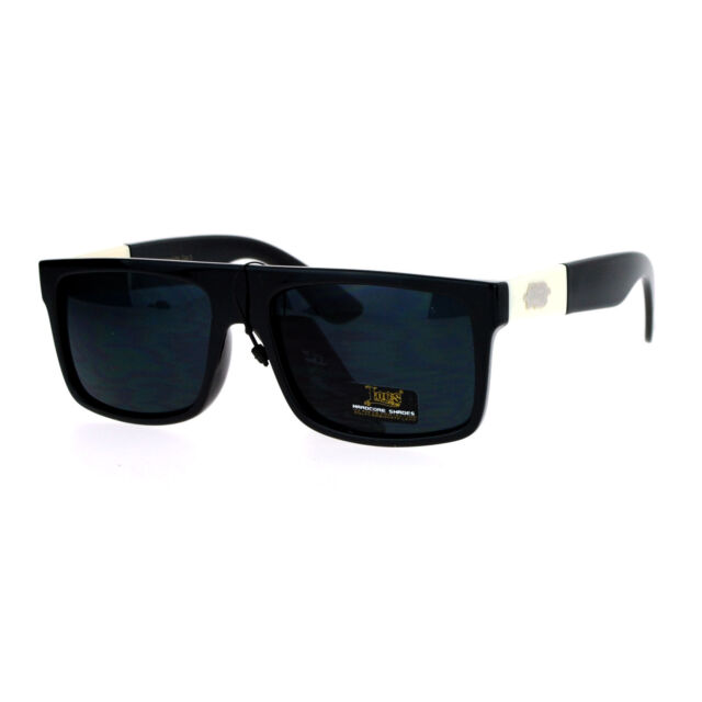 b3cfa7f858 Loc Sunglasses Mens Fashion Shades Flat Top Rectangular Black Off White