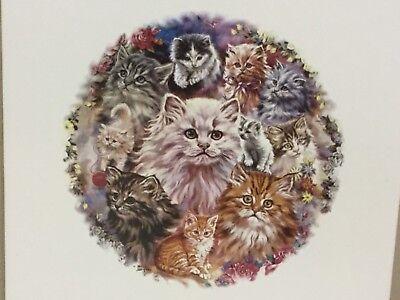 Cat Art Raminou Sitting On A Cloth Valadon Decorative Ceramic Tile