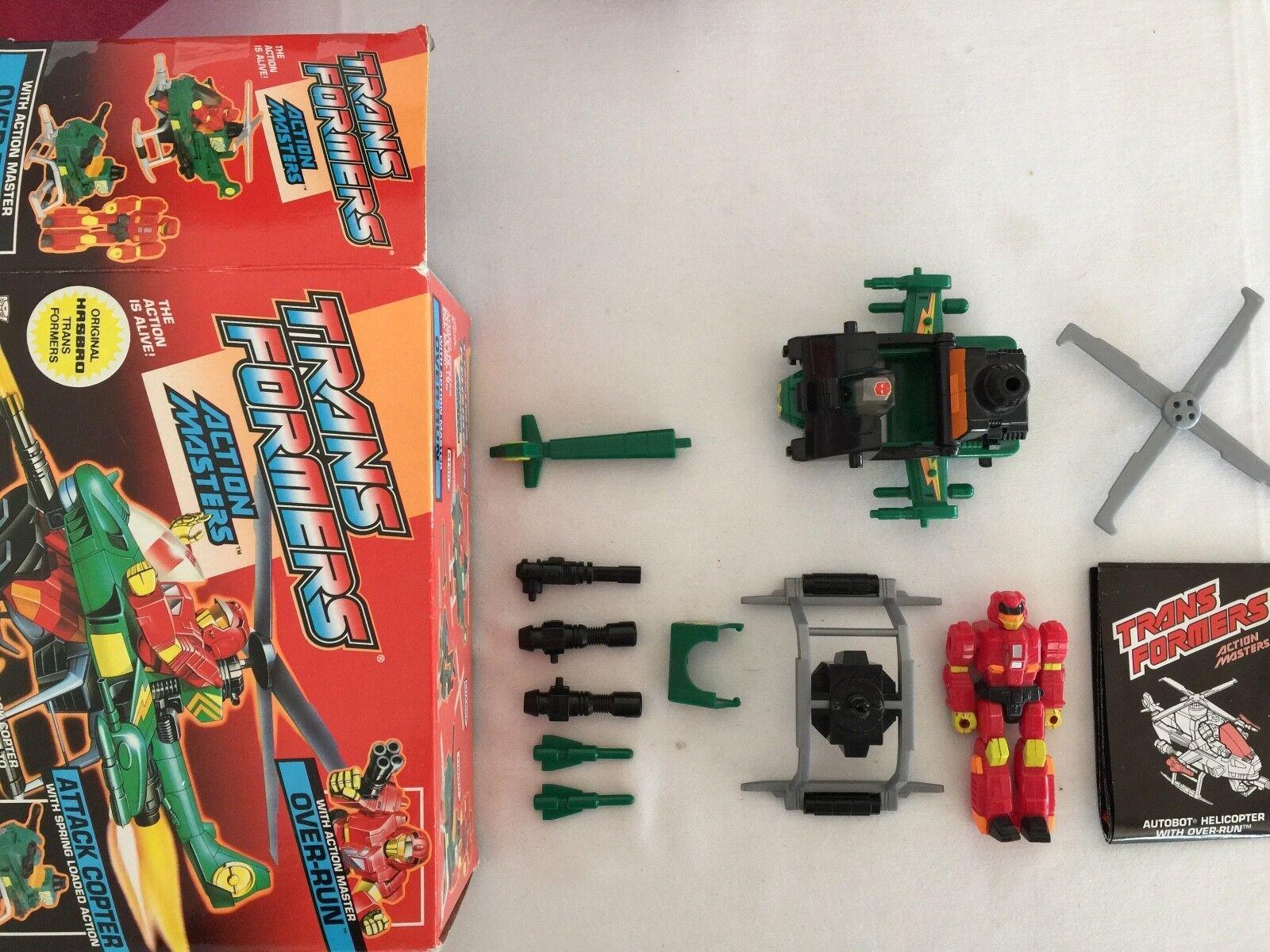 Transformers G1 1989  dépasseHommest en boîte Action Master Figure Over-courir  livraison directe et rapide