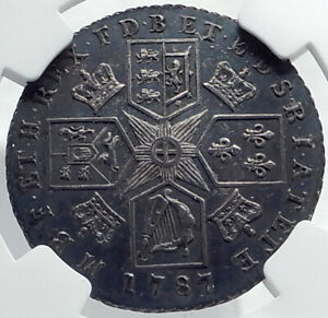 1787-GREAT-BRITAIN-UK-King-GEORGE-III-Antique-Silver-Shilling-Coin-NGC-i81753
