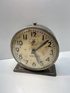 Vintage-Ingraham-Marvel-Alarm-Clock-For-Display-Parts-Or-Repair
