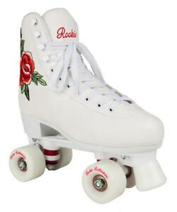 New-Rookie-Rosa-Girls-Quad-Wheels-Figure-Womens-Rollerskates-White-Boots
