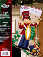 Bucilla Felt Stocking Kit Toy Soldier Christmas Musical Jingle Bells 85434 New Craft Supplies