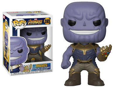 "FUNKO POP VINYL MARVEL AVENGERS 3 INFINITY WARS THANOS 10/"" SUPER SIZE EXCLUSIVE"