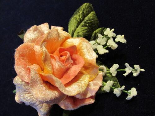 "ForgetMeNots for Hat Wedding Hair Y254 Pink Millinery Flower 4/"" Velvet Rose"
