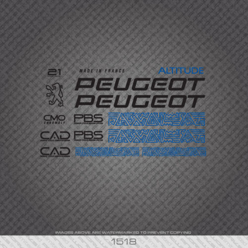 01518 Peugeot Altitude Bicycle Stickers Decals Transfers